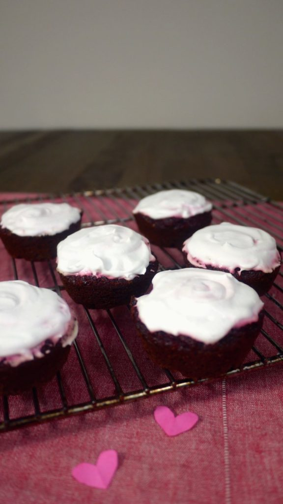 Paleo Red Velvet Cupcakes with Coconut Frosting