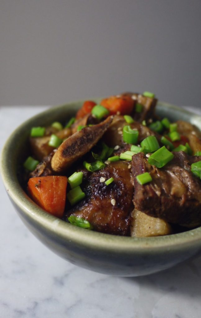 Slow Cooker Korean Short Ribs (Galbi Jjim)