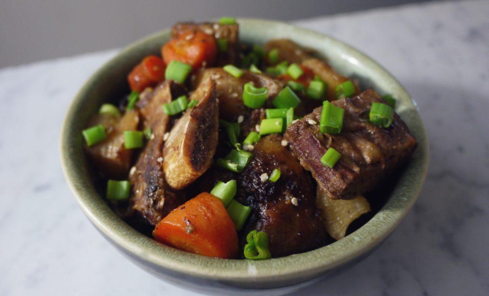 Slow Cooker Korean Short Ribs (Galbi Jjim)