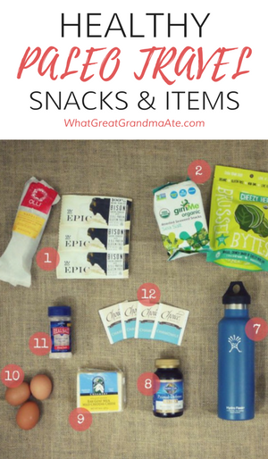 Healthy Paleo Travel Snacks and Items