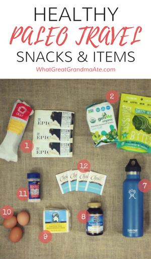 Healthy Paleo Travel Snacks and Items