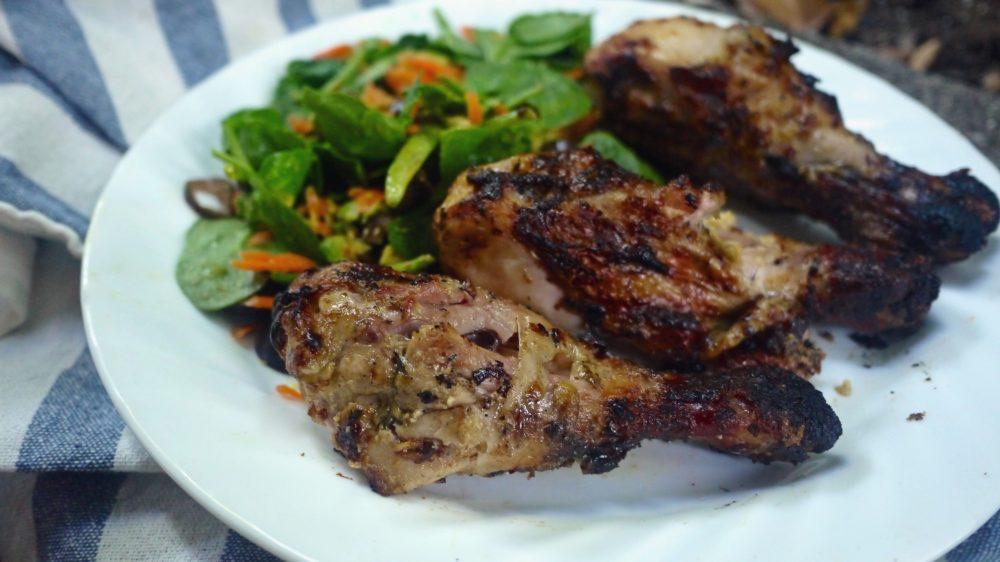 Grilled Balsamic Mayo Chicken Drumsticks