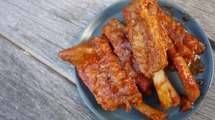 slow cooker bbq pork spare ribs
