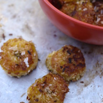 coconut plantain medallions