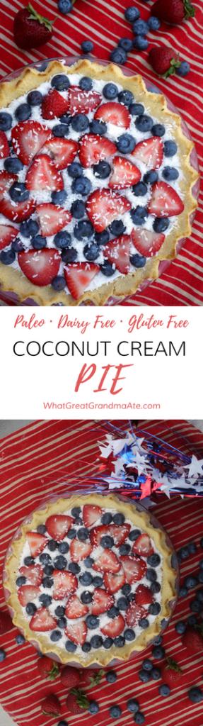 Paleo Gluten Free Dairy Free Coconut Cream Pie