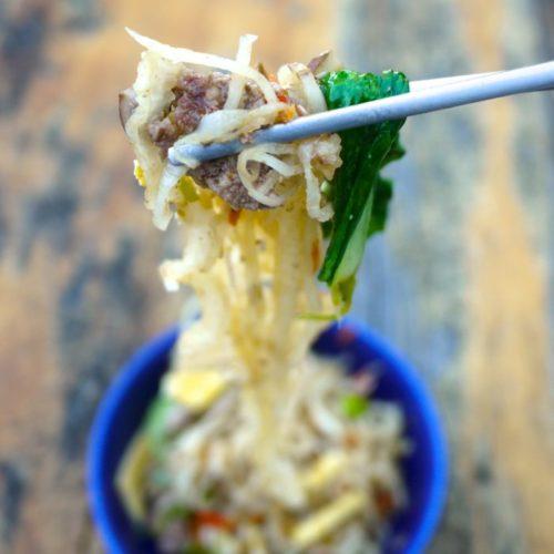 Asian Daikon Noodles