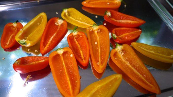 cheesy stuffed mini bell peppers
