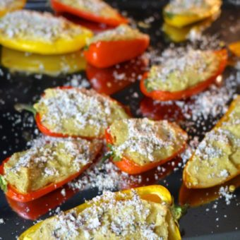 cheesy stuffed mini bell peppers