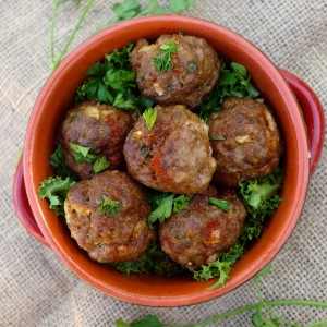 Spiced lemon pork meatballs