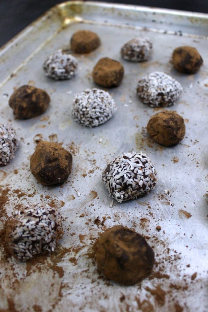 PEPPERMINT CHOCOLATE WHISKEY TRUFFLES
