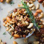 Spiced Maple Rosemary Paleo Mixed Nuts