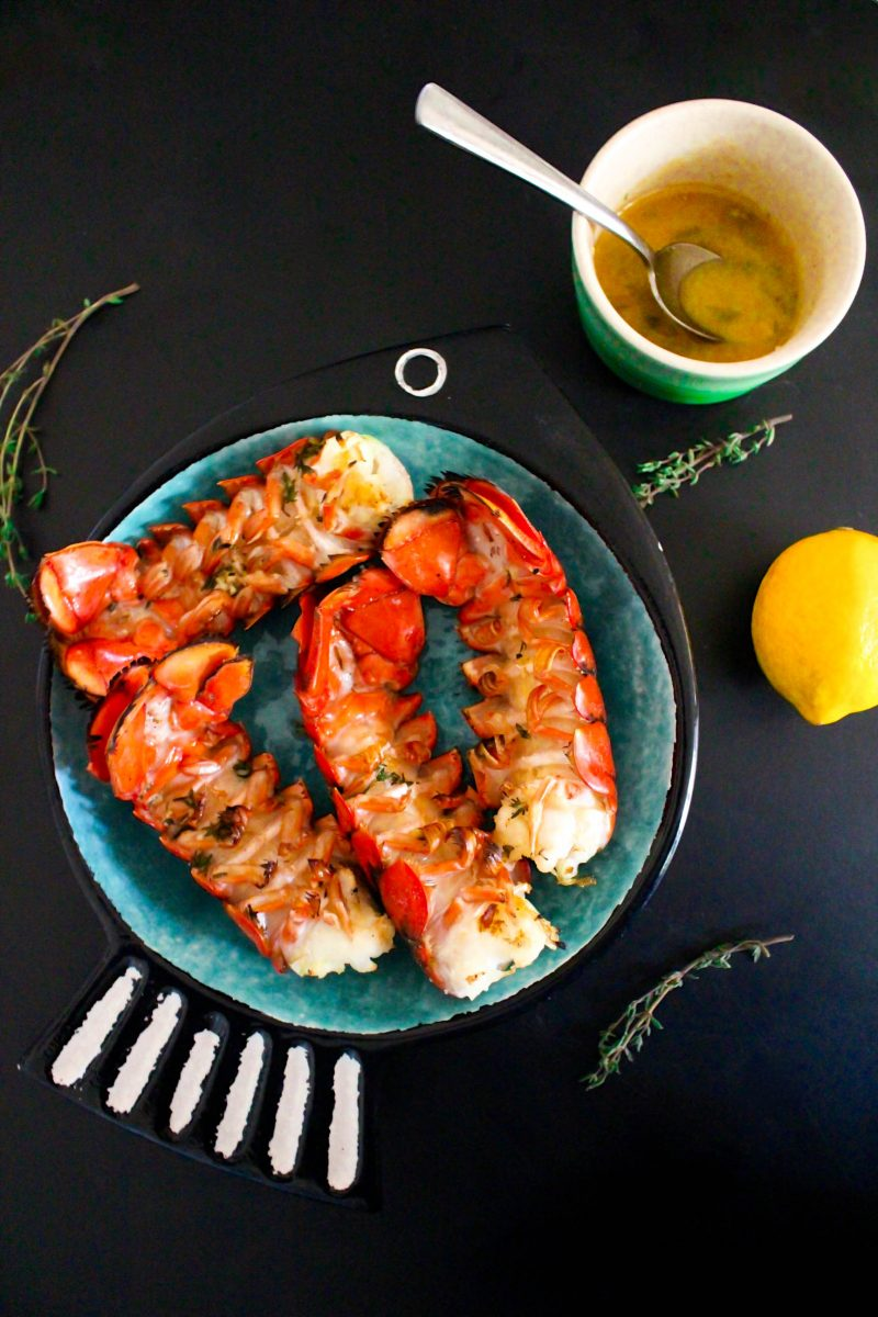 Lemon Butter Grilled Lobster Tails