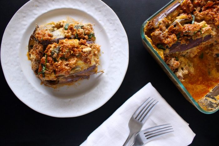 Turkey Eggplant Lasagna