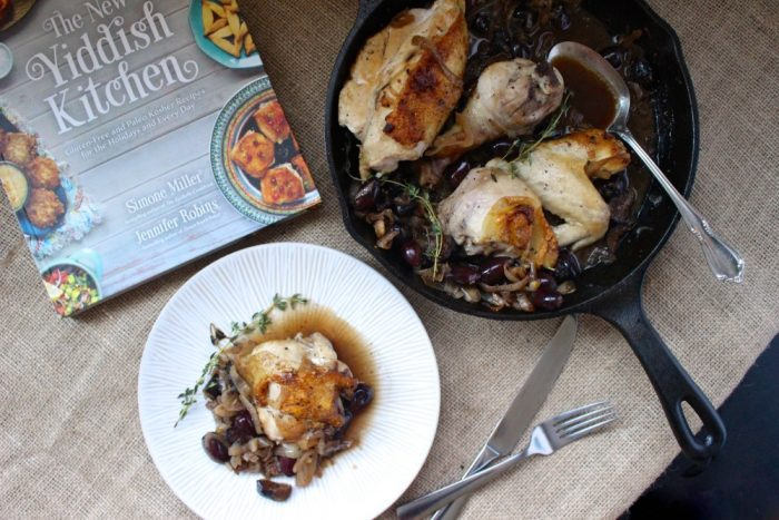 pan roasted chicken with figs olives