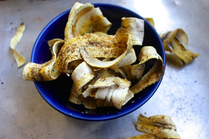 Baked Plantain Ribbon Chips