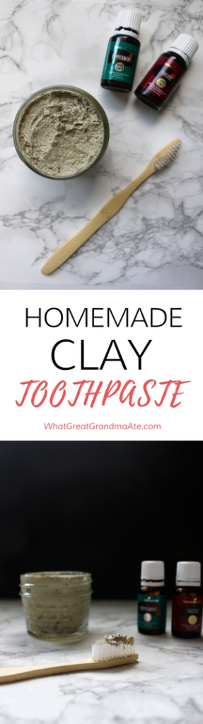 DIY Homemade Clay Toothpaste