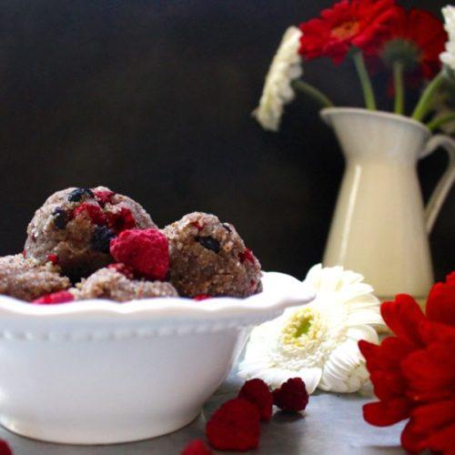 Berry Vanilla Paleo Cookie Dough