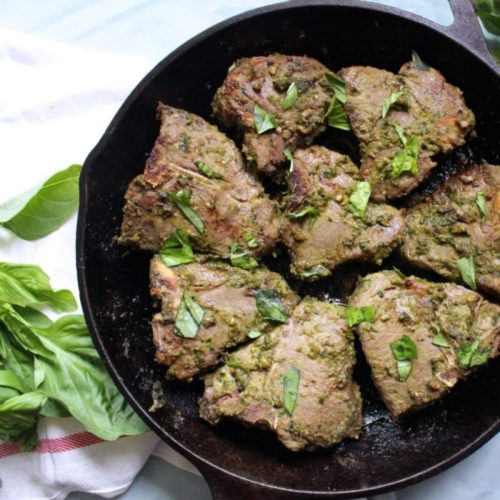 Thai Green Curry Lamb Loin Chops