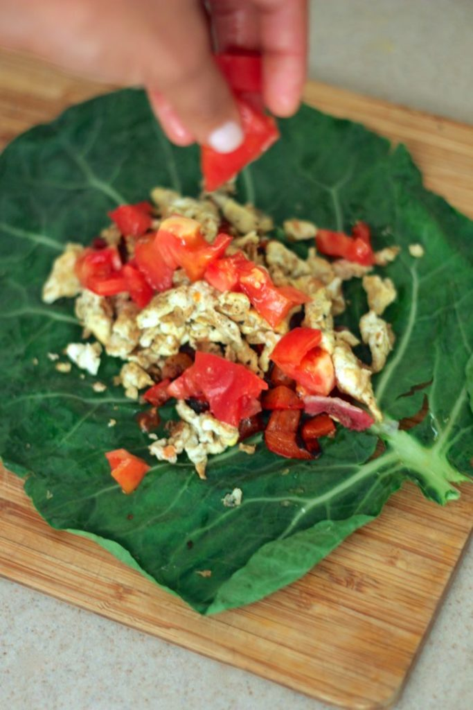 Breakfast Burrito Collard Wraps