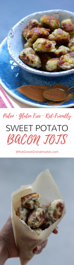 Kid-friendly Paleo Sweet Potato Bacon Tots - Gluten Free