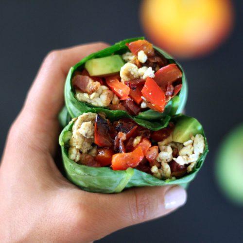 Breakfast Burrito Collard Wraps