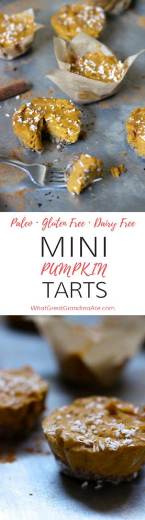 Paleo Mini Pumpkin Tarts (Gluten Free, Vegan