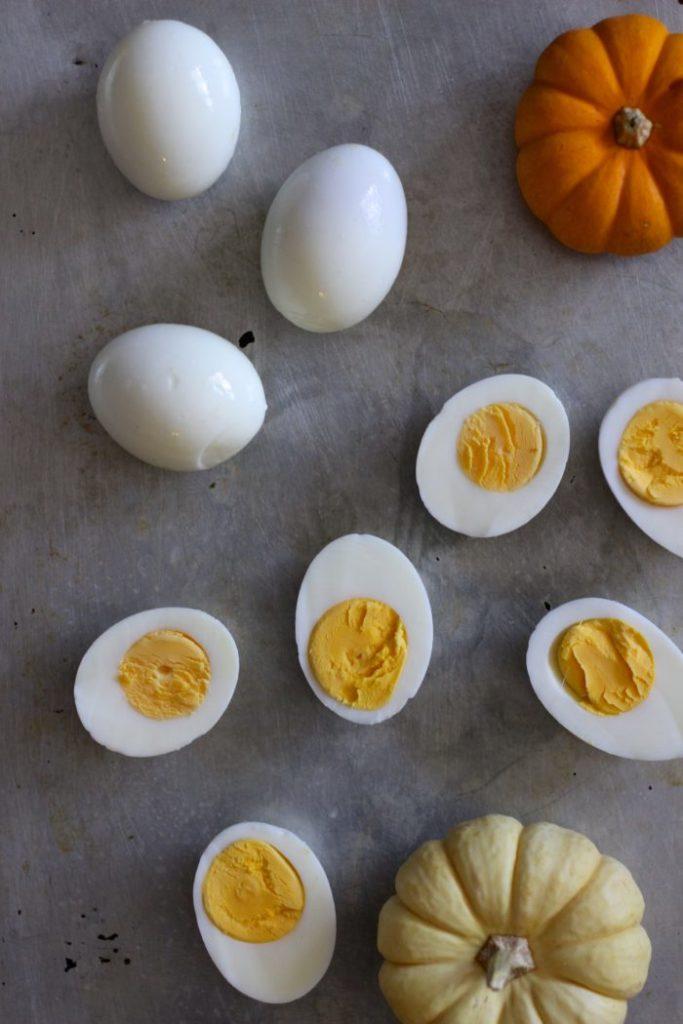 Jack O'Lantern Halloween Deviled Eggs