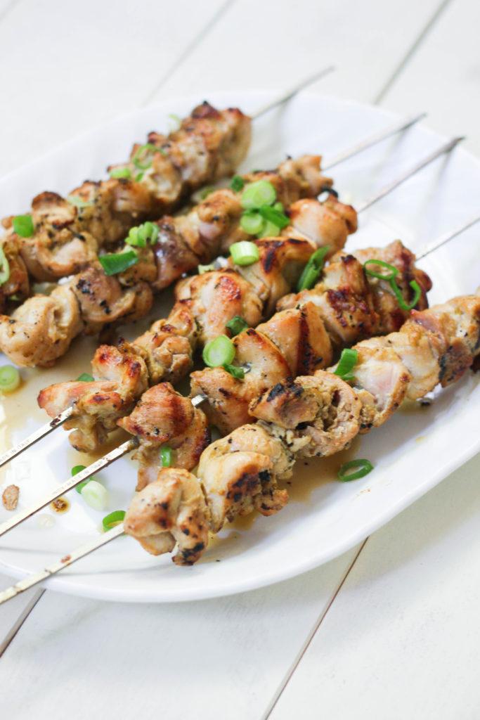 Paleo Curry Chicken Skewers