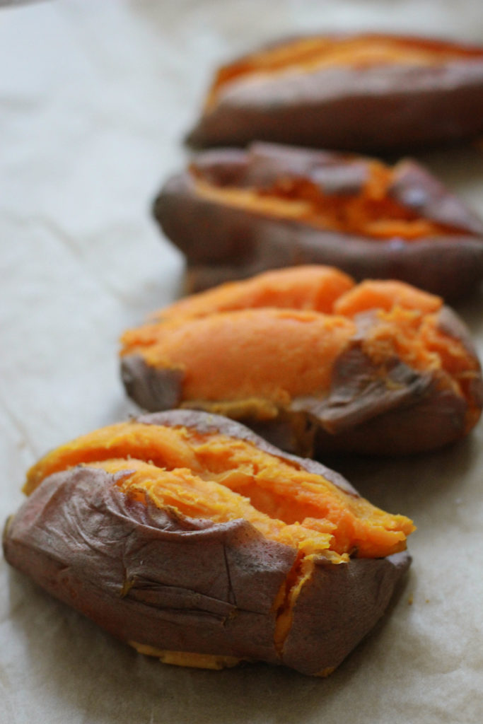 Candied Pecan Loaded Sweet Potatoes