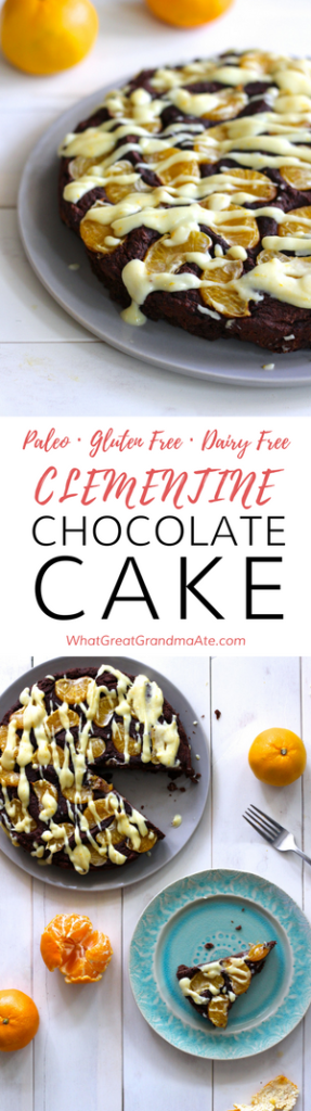Clementine Chocolate Paleo Cake with Coconut Glaze