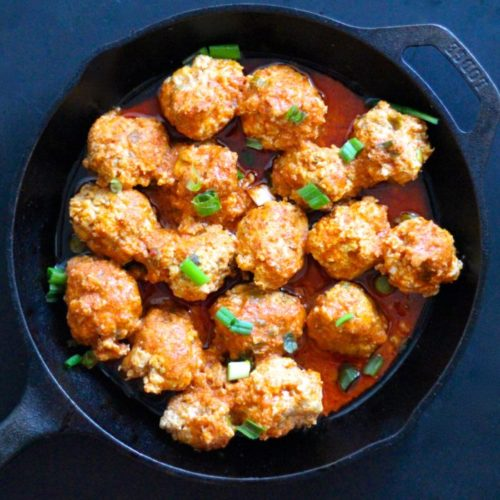 Instant Pot Buffalo Chicken Meatballs (Paleo, Whole30, Keto)