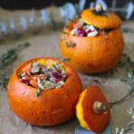 Paleo Gluten Free Whole30 Thanksgiving Stuffed Pumpkin