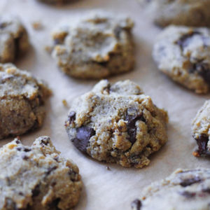Paleo Gluten Free Chestnut Chocolate Chip Cookies-3