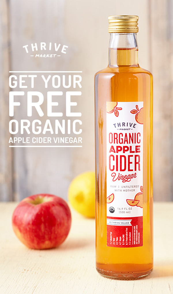 Grab Your Free Organic Apple Cider at Thrive Market!