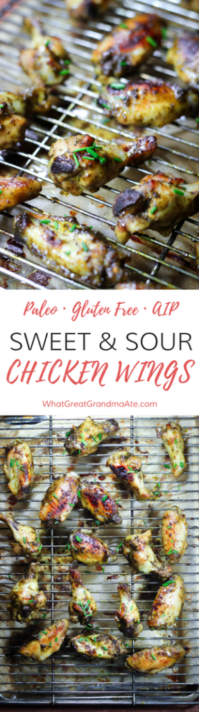 Paleo Gluten Free AIP Sweet & Sour Chicken Wings