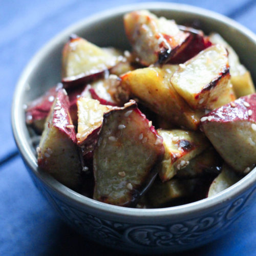 Paleo Korean Caramelized Sweet Potatoes (Goguma Mattang)