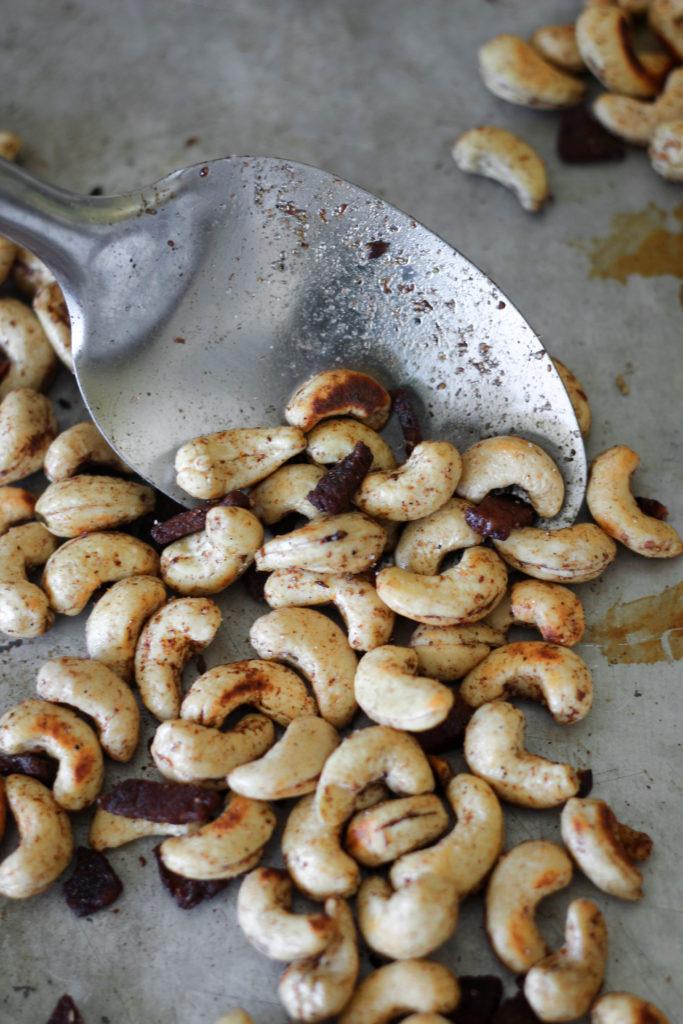 Spiced Bacon Cashews