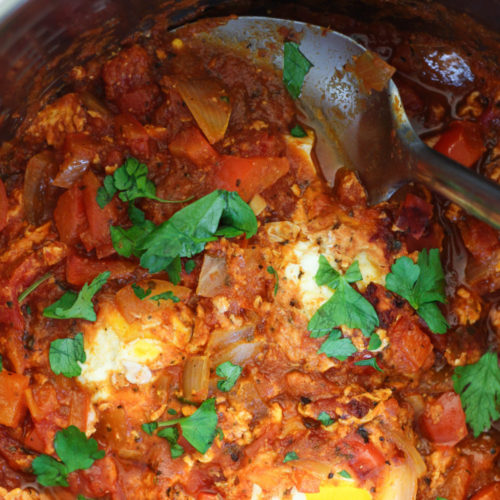 Instant Pot Eggs in Marinara Sauce
