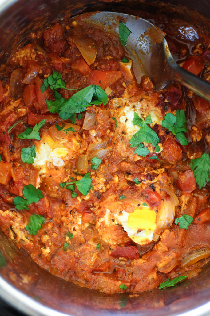 Paleo Instant Pot Eggs in Marinara Sauce