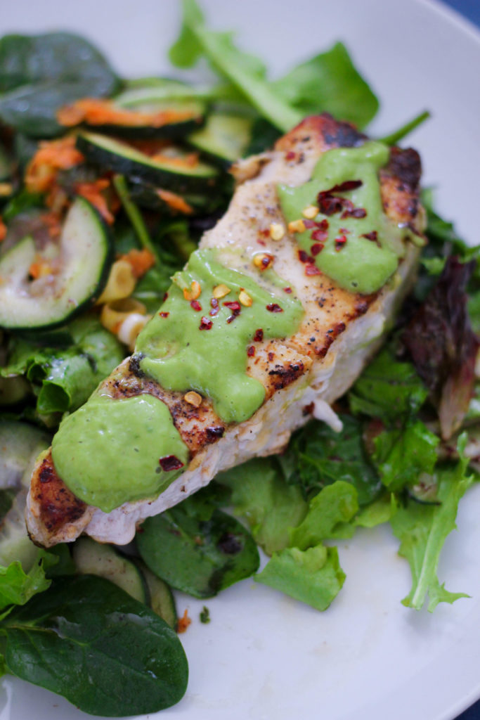 Swordfish Steaks with Creamy Lemon Basil Sauce