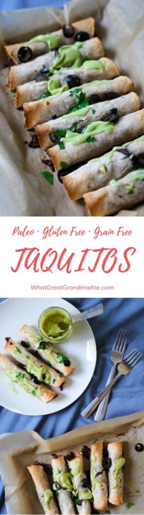 Grain-Free Paleo Taquitos