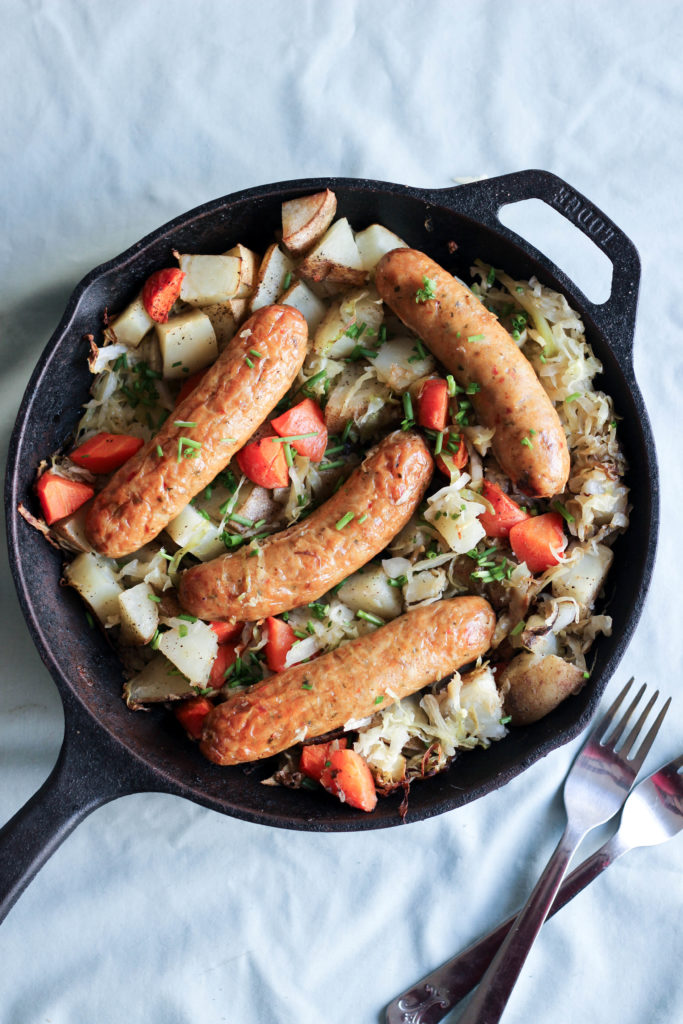 One Pot Irish Banger Skillet from What Great Grandma Ate