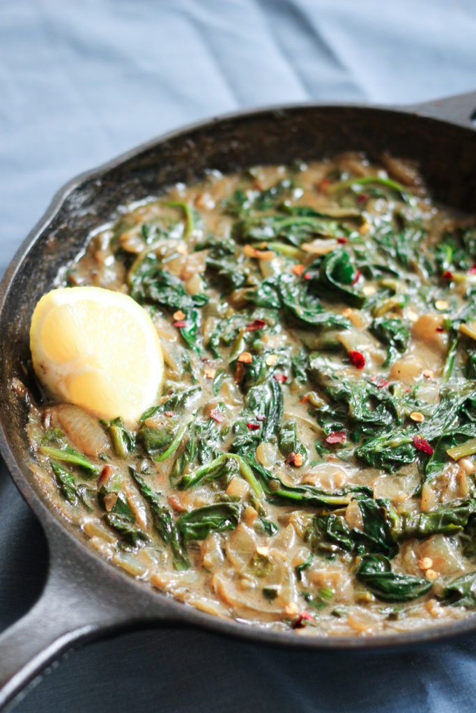 Paleo Whole30 Creamed Spinach