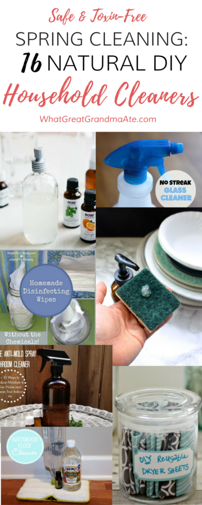 Spring clean your house with these toxin-free and natural DIY household cleaners!