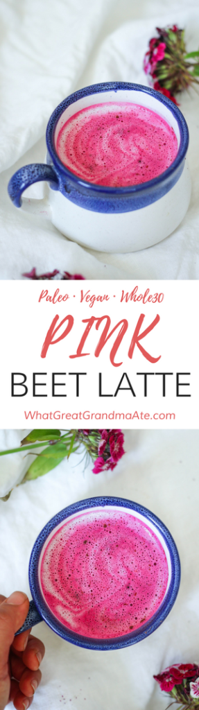 Whole30 Paleo Vegan Pink Beet Latte