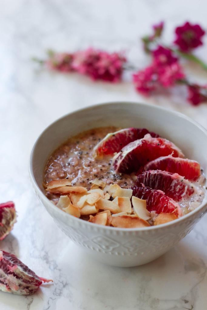 paleo vegan orange creamsicle noatmeal