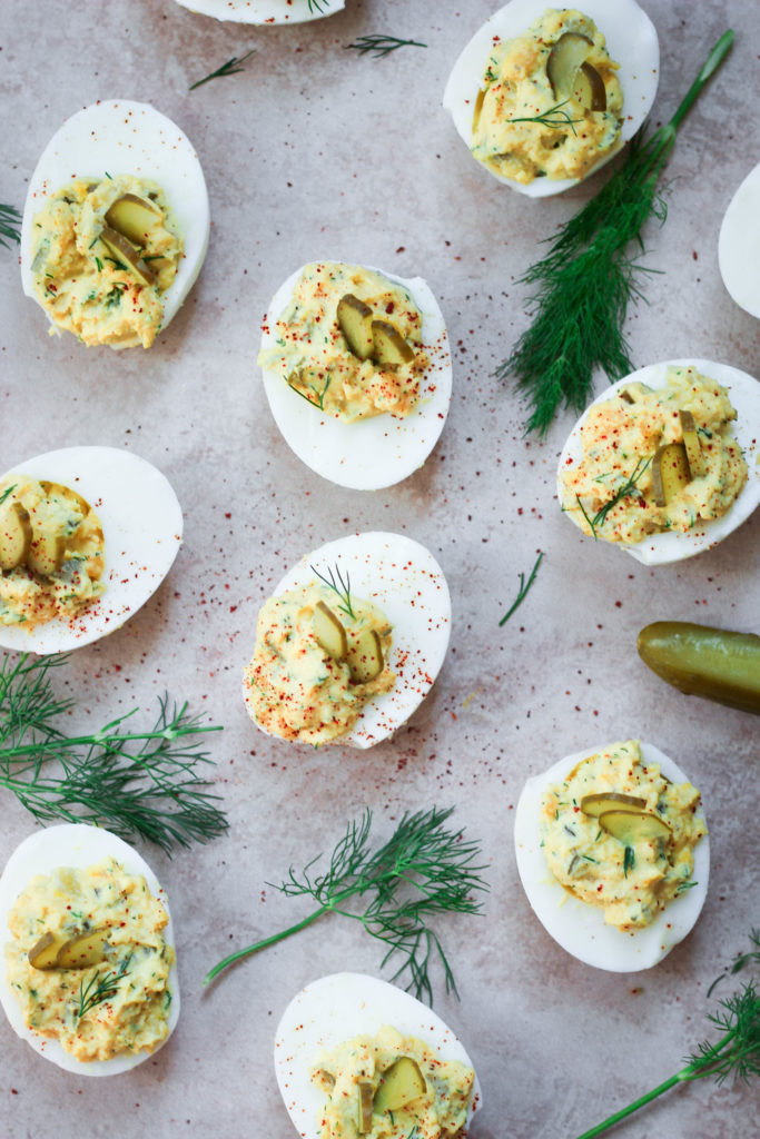 Paleo Pickle Deviled Eggs