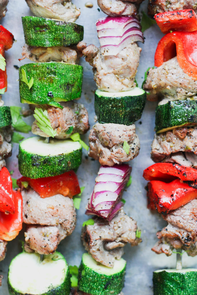 Paleo Grilled Greek Lamb Skewers
