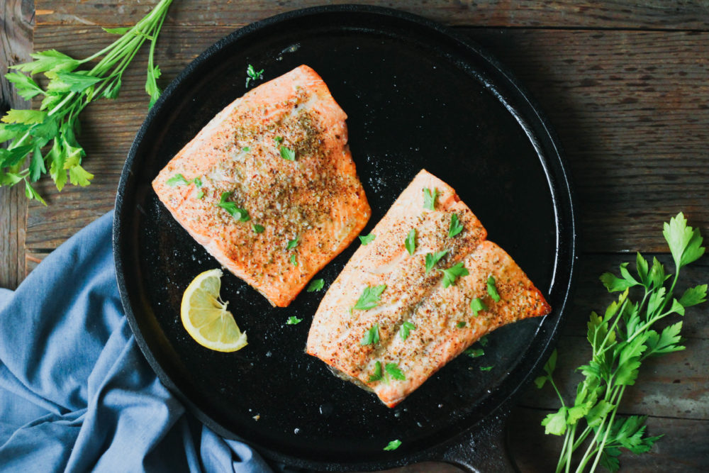 5 Minute Broiled Salmon