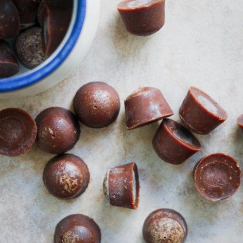 Chocolate Almond Butter Collagen Fat Bombs